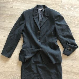 Anne Klein Jackets & Coats - Anne Klein Blazer Skirt Suit Charcoal Wool
